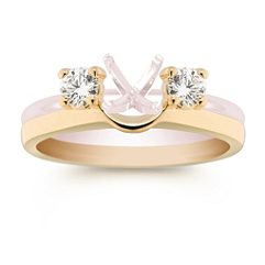 Round Diamond Solitaire Engagement Ring Wrap in Yellow Gold - 1/3 ct. t.w.