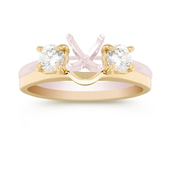 Round Diamond Solitaire Engagement Ring Wrap in Yellow Gold - 1/2 ct. t.w.