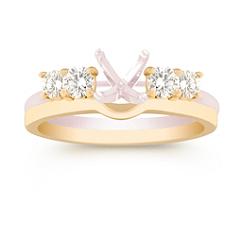 Round Diamond Solitaire Engagement Ring Enhancer