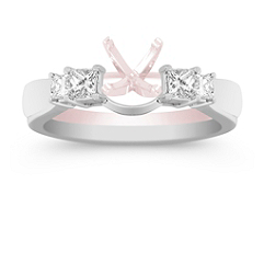 Princess Cut Diamond Solitaire Engagement Ring Wrap