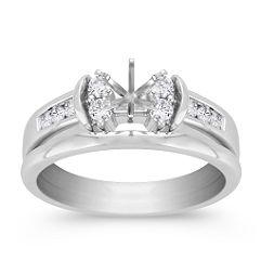 Diamond Wedding Set with Channel Setting