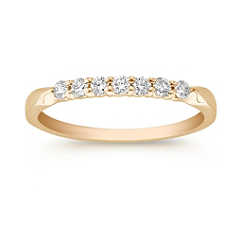 Round Diamond Lined Wedding Band