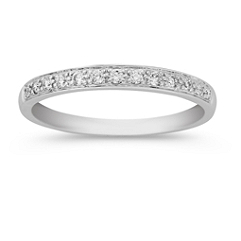 Pave-Set Classic Diamond Wedding Band