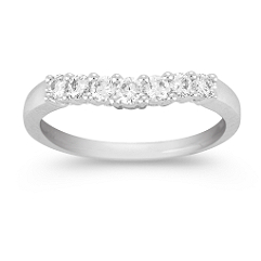Contour Diamond Platinum Wedding Band