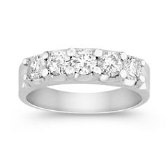 Round Diamond Anniversary Band in Platinum
