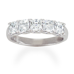 Crisscut Cushion Cut Diamond Anniversary Band