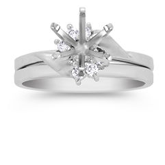Swirl Diamond Wedding Set