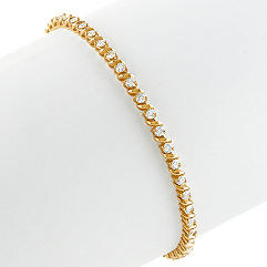 Round Diamond Tennis Bracelet at Approximately 2.95 Carats Total Weight (7 in.)