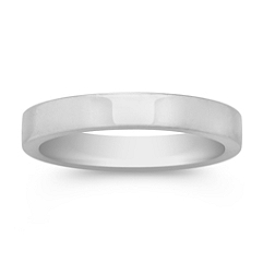 14k White Gold Wedding Band (3mm)