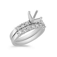 Diamond Platinum Wedding Set