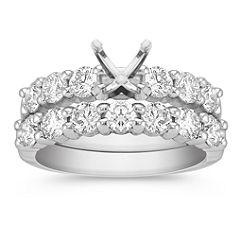 Diamond Platinum Wedding Set