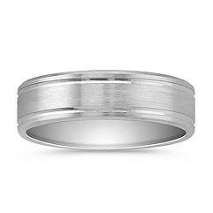 14k White Gold Wedding Band (7mm)