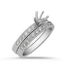 Round Diamond Wedding with Pavé Setting and Milgrain Detail