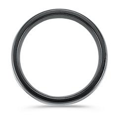 Black Titanium Ring with White Bands (7mm)