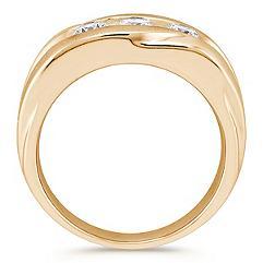 Three Stone Channel Set Round Diamond Ring