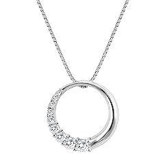 Round Diamond Journey Circle Pendant (18 in.)