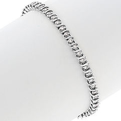 Swirl Diamond Tennis Bracelet (7 in.)