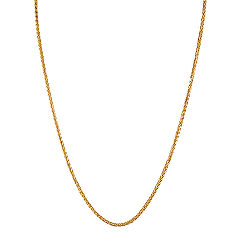 14k Yellow Gold Wheat  Chain (18)