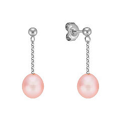 7mm Pink Cultured Freshwater Pearl Earrings