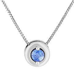 1/5 ct. Round Ice Blue Sapphire Pendant (18)