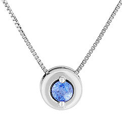 1/5 ct. Round Ice Blue Sapphire Pendant (18 in.)