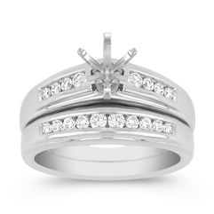 Round Diamond Wedding Set