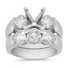 2 1/2 cts t.w. Round Diamond Wedding Set