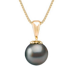 "9mm Cultured Tahitian Pearl Pendant (18"")"