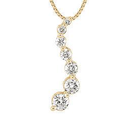 Round Diamond Journey Pendant (18 in.)