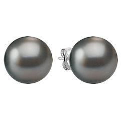 11mm Cultured Tahitian Pearl Solitaire Earrings