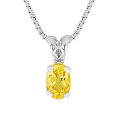 Oval Yellow Sapphire Pendant (18 in.)