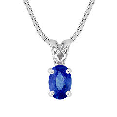 Oval Sapphire Pendant (18 in.)