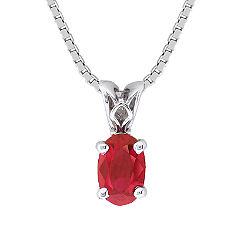 Oval Ruby Pendant (18 in.)