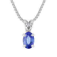 Oval Kentucky Blue Sapphire Pendant (18 in.)