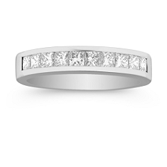Princess Cut Diamond Wedding Band -3/4 ct. t.w.