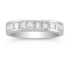 Princess Cut Diamond Wedding Band -1 ct. t.w.