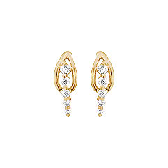 Round Diamond Journey Earrings