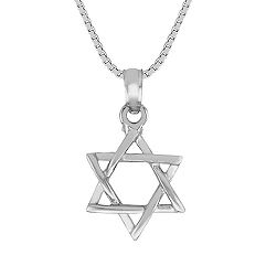 14k White Gold Star of David Pendant (18)