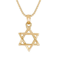 14k Yellow Gold Star of David Pendant (18)