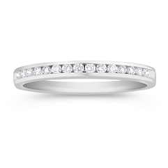Fifteen Stone Round Diamond Wedding Band - 1/6 ct. t.w.