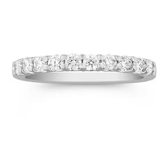 Round Diamond Wedding Band in Platinum