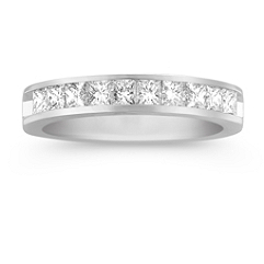 Princess Cut Diamond Channel Set Wedding Band