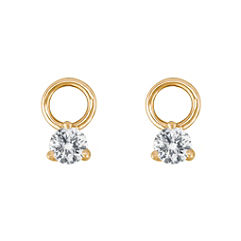 Round Diamond Earring Charms