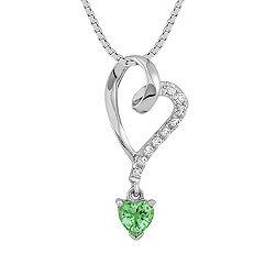 Heart Shaped Green Sapphire and Diamond Heart Pendant (18)