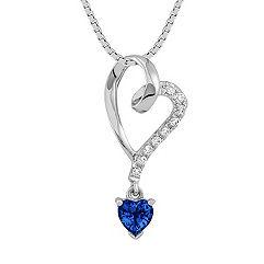 Heart Shaped Sapphire and Diamond Heart Pendant (18)