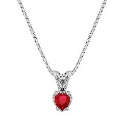 Heart Shaped Ruby Pendant (18)