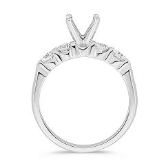 Classic Round Diamond Five-Stone Engagement Ring
