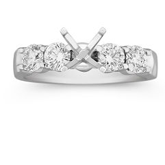 Round Diamond Engagement Ring - 7/8 ct. t.w.