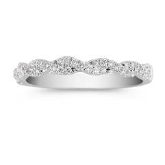 Delicate Infinity Diamond Wedding Band with Pave Setting