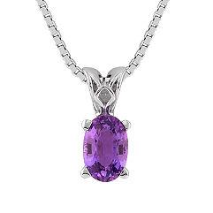 Oval Lavender Sapphire Pendant (18)